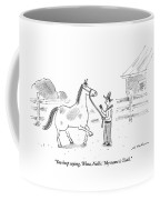 A Horse Speaks To A Cowboy Trying To Calm Coffee Mug