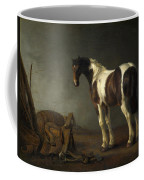 A Horse With A Saddle Beside It Coffee Mug