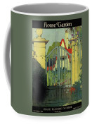 A House And Garden Cover Of A Gate Coffee Mug
