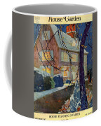 A House And Garden Cover Of A House In Winter Coffee Mug