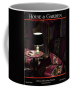 A House And Garden Cover Of A Lamp By An Armchair Coffee Mug