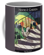 A House And Garden Cover Of A Rooster Coffee Mug