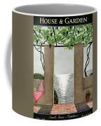 A House And Garden Cover Of A Seaside Patio Coffee Mug