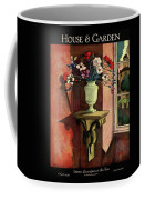 A House And Garden Cover Of A Vase Of Flowers Coffee Mug
