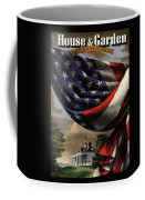 A House And Garden Cover Of An American Flag Coffee Mug
