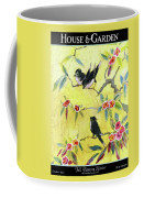 A House And Garden Cover Of Chickadees Coffee Mug