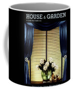 A House And Garden Cover Of Flowers By A Window Coffee Mug