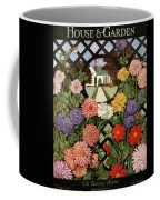 A House And Garden Cover Of Flowers Coffee Mug