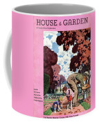 A House And Garden Cover Of People Gardening Coffee Mug