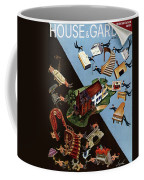 A House And Garden Cover Of People Moving House Coffee Mug