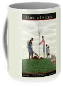A House And Garden Cover Of People Planting Coffee Mug