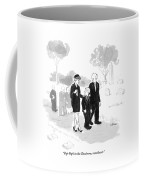 A Husband And Wife At A Funeral Comfort Coffee Mug