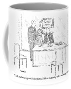 A Husband And Wife Speak To A Marriage Counselor Coffee Mug