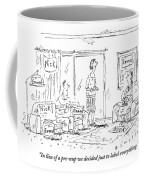 A Husband And Wife Talk To A Friend Coffee Mug