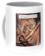 A Husband Trips Down Some Stairs In A Parody Coffee Mug by Harry Bliss