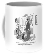 A Husband With Packed Bags Tells His Wife Coffee Mug
