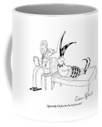 A Jester Lays In A Therapist Couch Coffee Mug by Victoria Roberts