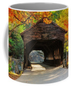 A Kancamagus Gem - Albany Covered Bridge Nh Coffee Mug by Thomas Schoeller
