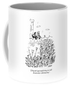 A King And His Advisor Overlook An Angry Mob Coffee Mug