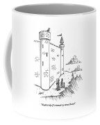 A King Looks Over The Parapet Of His Castle Coffee Mug