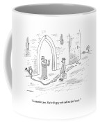 A King Makes Air Quotes With His Fingers Coffee Mug