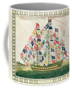 A King S Ship Dressed With The Colours Of Different Nations 6th October 1794 Coffee Mug
