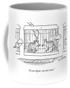 A Lab Rat With Electrodes On His Head Talks Coffee Mug