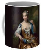 A Lady In A Landscape With A Fly On Her Shoulder Coffee Mug