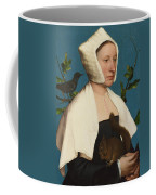 A Lady With A Squirrel And A Starling Coffee Mug