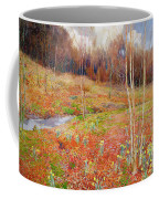 A Landscape In Spring With A Nun Coffee Mug