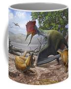 A Large Bakonydraco Pterosaur Attacking Coffee Mug by Sergey Krasovskiy