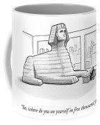 A Large Sphinx Sits In Front Of A Desk Coffee Mug