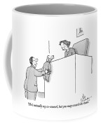 A Lawyer Is Seen Holding A Dog In A Suit Coffee Mug