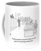 A Lawyer Makes His Case In Front Of A Jury Coffee Mug