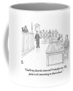 A Lawyer Makes His Case In Front Of A Jury Coffee Mug by Paul Noth