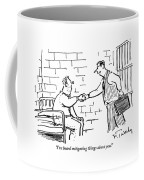 A Lawyer With A Briefcase Shakes The Hand Coffee Mug