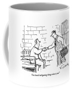 A Lawyer With A Briefcase Shakes The Hand Coffee Mug by Mike Twohy
