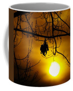 A Leaf Hanging On  Coffee Mug