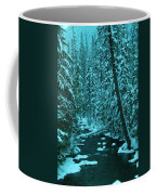 A Leaning Tree Over The Little Naches River Coffee Mug