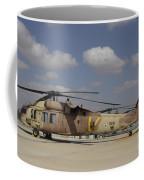 A Line Of Uh-60l Yanshuf Helicopters Coffee Mug