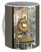 A Lion Eats At A Vegetarian Restaurant Coffee Mug