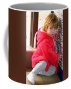 A Little Girl In Red Coffee Mug