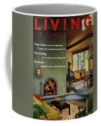 A Living Room With Sherwin-williams Wood-paneling Coffee Mug