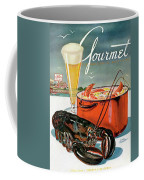 A Lobster And A Lobster Pot With Beer Coffee Mug