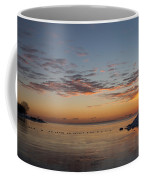 A Long Line Of Canada Geese At Sunrise Coffee Mug
