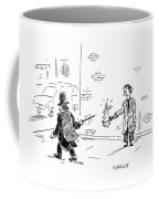 A Magician Points His Wand At A Beggar's Hat Coffee Mug