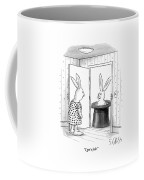 A Male White Rabbit In A Magician's Top Hat Coffee Mug by Sam Gross