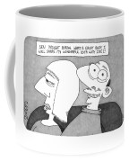A Man And A Woman Are Next To Each Other In Bed Coffee Mug