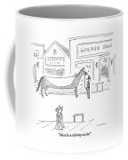 A Man And A Woman In A Western Town Look Coffee Mug