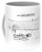 A Man And A Woman Lie Down On Reclined Beach Coffee Mug